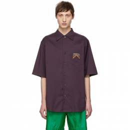 Prada Purple Stripe Shirt UCS328 19 X08
