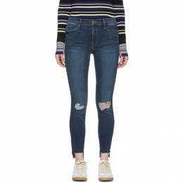 Frame Blue Le High Skinny Raw Stagger Jeans 191455F06903202GB