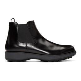 Prada Black Rois Chelsea Boots 2TE136 B4L