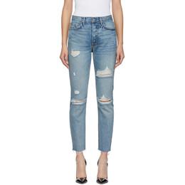 Grlfrnd Blue Distressed Karolina Jeans 191966F06900107GB
