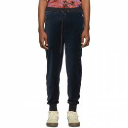 3.1 Phillip Lim Navy Relaxed Cropped Tapered Lounge Pants 191283M19000505GB