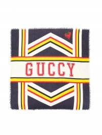 Gucci Kids - шарф с логотипом 'Guccy' 6055K983935590950000