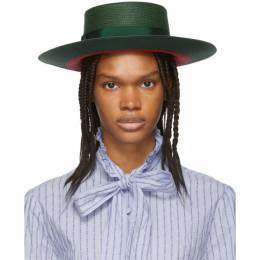 Gucci Green and Red Straw Hat 191451F01700202GB
