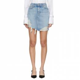 Grlfrnd Blue Denim Rhoda Skirt 191966F09000307GB