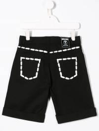 Moschino Kids - шорты с контрастной отделкой 60PLOA69935563660000