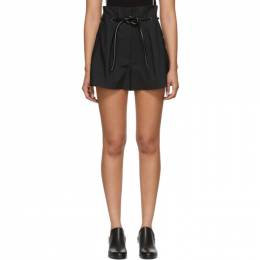 3.1 Phillip Lim Black Origami Pleated Shorts 191283F08800301GB