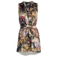 Alice + Olivia Multicolor Floral Print Belted Berk Dress S 113596