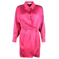 Marc Jacobs Pink Silk Collared Wrap Dress L 109863
