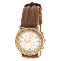 Baume& Mercier White Stainless Steel Leather Women's Wristwatch 28MM Baume&Mercier 112708