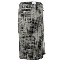 Max Mara Beige and Black Textured Wrap Skirt M 118919