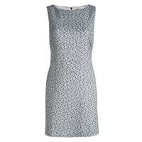 Alice and Olivia Monochrome Textured Cut Out Back Detail Dress L Alice + Olivia