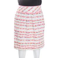 Boutique Moschino Multicolor Striped Textured Skirt S 163680