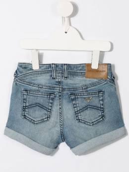 Emporio Armani Kids - джинсовые шорты с отворотами S630D5NZ936568890000