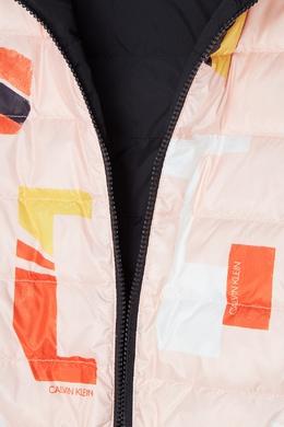 Стеганая куртка с принтом Calvin Klein Kids 2815109050