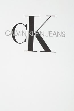 Белая хлопковая футболка Calvin Klein Kids 2815109051