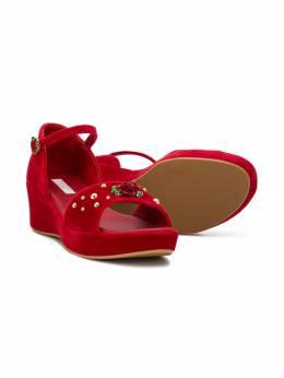 Dolce & Gabbana Kids сандалии с отделкой D10354AZ474T