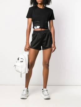 Chiara Ferragni - шорты с логотипами на лампасах 69893633358000000000