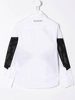 Neil Barrett Kids - поплиновая рубашка со вставками 66693595986000000000