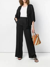 Semicouture - брюки палаццо со складками P6093650396000000000