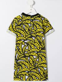 Stella McCartney Kids - платье миди с банановым принтом 099SMJ09936863630000
