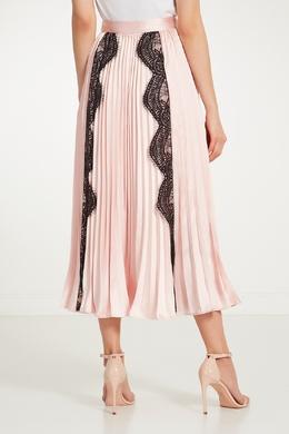 Плиссированная юбка с кружевной отделкой Self-portrait 532109806