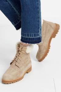 Замшевые ботинки The Heilbrunner Flat Aquazzura 97537207