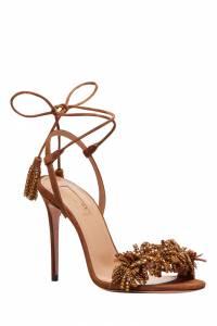 Карамельные босоножки Wild Crystal Sandal 105 Aquazzura 975110371