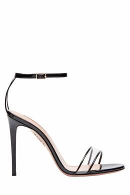 Черные босоножки Minimalist Sandal 105 Aquazzura 975110382