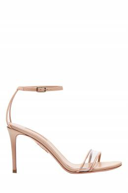 Бежевые босоножки Minimalist Sandal 85 Aquazzura 975110378