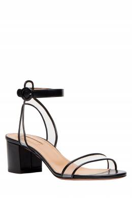 Черные босоножки с прозрачной отделкой Minimalist Sandal 50 Aquazzura 975110383