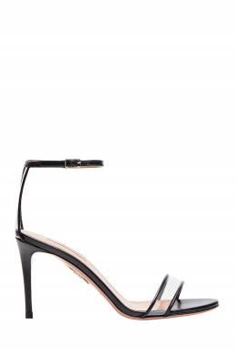 Черные босоножки Minimalist Sandal 85 Aquazzura 975110377