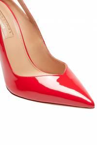 Красные лакированные туфли Shiva Pump 105 Aquazzura 975110356