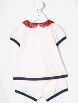 Moncler Kids - комплект из рубашки-поло и шортов 88658596FB9368956300
