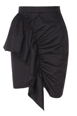 Клетчатая юбка с воланом Nel Super 100 Isabel Marant Etoile 958111345