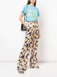 Cinq A Sept - широкие брюки с цветочным принтом 690833Z9366850000000
