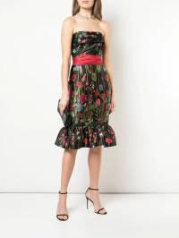 Marchesa Notte - платье без бретелей с цветочным принтом C6853936633960000000