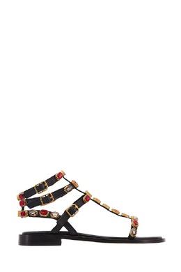 Кожаные сандалии Passion с кристаллами Ash 6112444