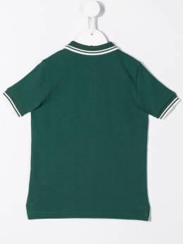 Moncler Kids - рубашка-поло с контрастной отделкой 83665658596W86693359