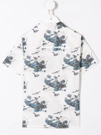 Lanvin Enfant - рубашка с короткими рукавами и принтом 656KD596933580560000