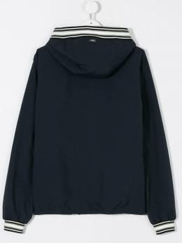 Herno Kids куртка-бомбер с капюшоном GI0013B19339