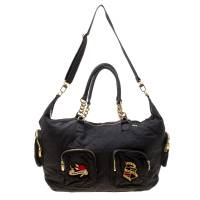 Sonia Rykiel Black Nylon Top Handle Bag 176928