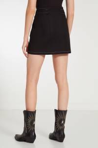 Черная мини-юбка с накладными карманами Maje 888113205