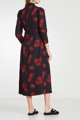 Платье с цветочным мотивом и воротником мандарин Simone Rocha 250113909