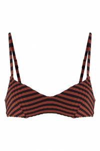 Бюстгальтер в черно-красную полоску Solid And Striped 2851114024