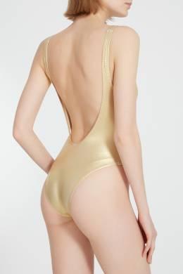 Золотистый купальник Solid And Striped 2851114017