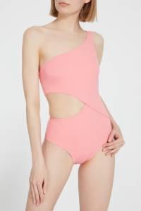 Асимметричный розовый купальник Solid And Striped 2851114018