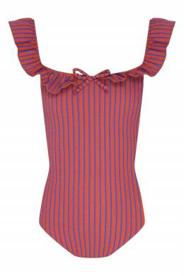 Купальник с оборкой Solid And Striped 2851114027
