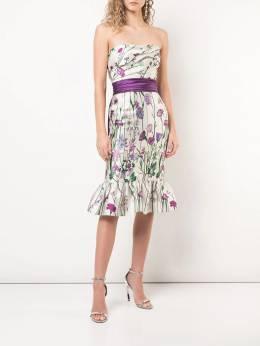 Marchesa Notte - платье без бретелей с цветочным принтом C6853936633930000000