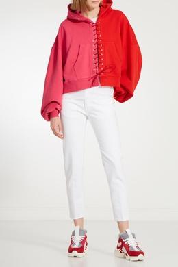 Розово-бело-красные кроссовки Unravel Project 2852114276