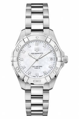 AQUARACER Кварцевые женские часы с перламутровым циферблатом Tag Heuer 2849115475